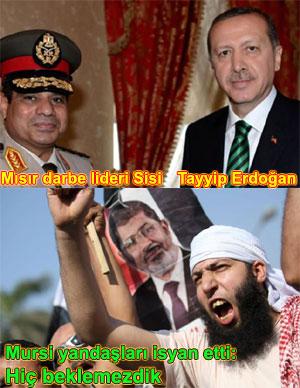 Mısır darbeci general Sisi Recep Tayyip Erdoğan resimleri
