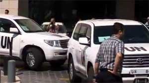 Suriyeli muhalifler BM müfettişlerine ateş açtı