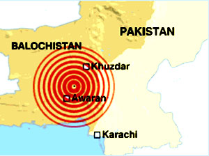 Pakistan depremi harita