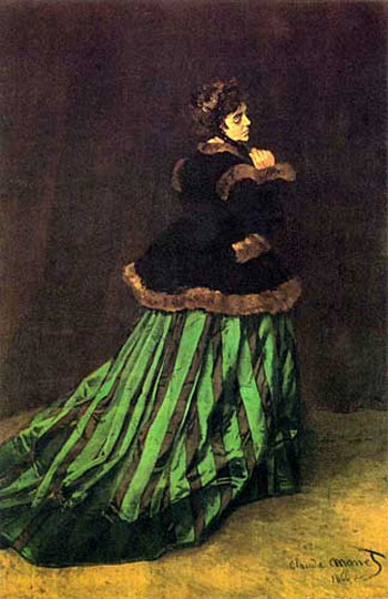 Monet Camille or Lady in a green dress