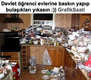 Devlet öğrenci evlerine baskın yapıp bulaşıkları yıkayacak