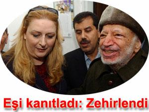 Yaser Arafat ve eşi Süha Arafat