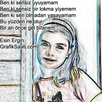 Bitanem şiir Esin Ergin