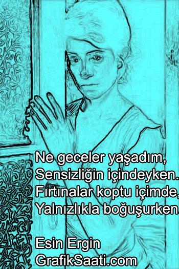 sensizlik şiir Esin Ergin