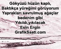 Hüznüm şiir Esin Ergin