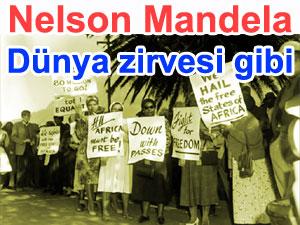 Nelson Mandela: Dünya zirvesi gibi tören