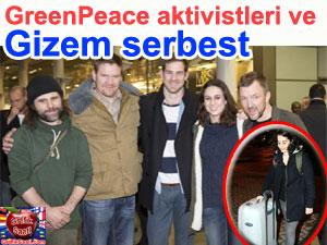 GreenPeace eylemcisi Gizem Ayhan yurda döndü
