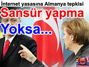 Merkel ve Tayyip Erdoğan Sansür yapma yoksa...