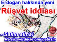 Yürütme organının başındaki isim olan Recep Tayyip Erdoğan hakkında yeni rüşvet iddiası