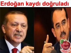 Recep Tayyip Erdoğan Sadullah Ergin ile yaptığı ses kaydını doğruladı