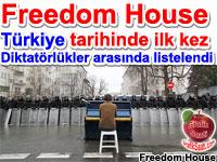 Türkiye tarihinde ilk kez diktatörlükler arasında listelendi