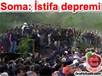 Soma maden işçilerinin protestoları istifa ettirdi