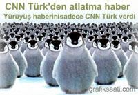 CNN Türk tüm basını atlattı ve büyük yürüyüşü görüntüledi