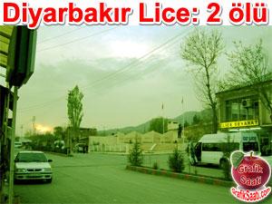 Diyarbakır Lice'de 2 gösterici öldü Karakol inşaatı kalekol yapımı
