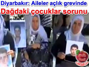 Dağdaki çocuklar sorunu: Diyarbakır'da aileler açlık grevine başladı