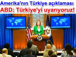 Amerika: Türkiye'yi uyarıyoruz! | Irak haberleri