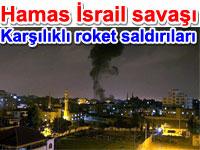 Hamas İsrail savaşı - Karşılıklı roket saldırıları