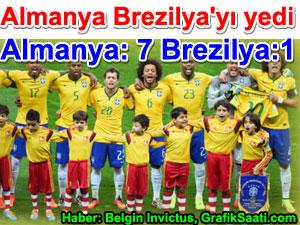 Almanya Brezilya'yı yedi Almanya: 7 Brezilya: 1 Haber Belgin Elçioğlu Invictus Brezilya gol yemeye doyamadı, Brezilya futbolunun kabus günü Brezilya:1 Almanya:7 | Spor haberleri