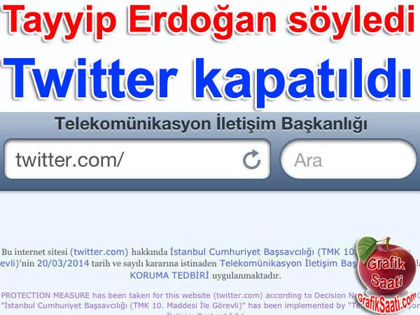 Twitter kapatıldı
