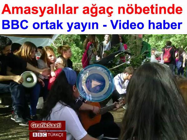 Amasyalılar ağaç nöbeti tutuyor | BBC ortak yayın video haber