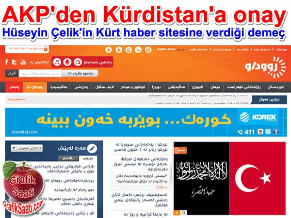 AK Parti Kürdisyan'ı onayladı | AK Parti Genel Başkan Yardımcısı Hüseyin Çelik'in Kürt haber sitesi Rudaw'a verdiği demeç