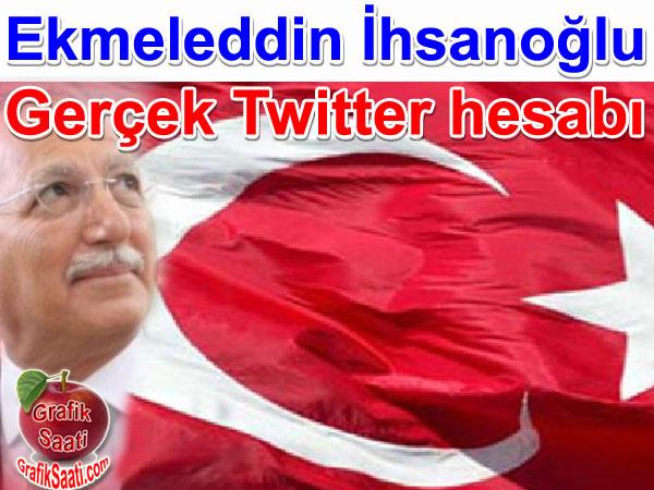 Ekmeleddin İhsanoğlu'nun gerçek twitter adresi
