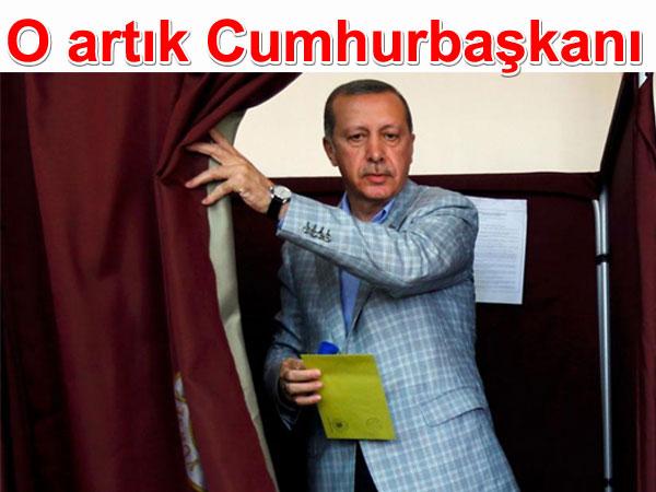 O artık Cumhurbaşkanı: Recep Tayyip Erdoğan Cumhurbaşkanı seçildi